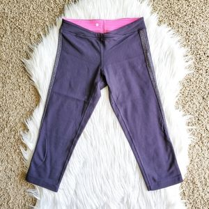 Lululemon Purple Blue Pink Cross Front Leggings